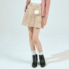 ニコ☆プチ10月号掲載 |ファーチャーム付きスエードスカパン