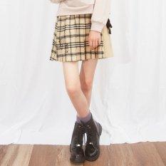 ニコ☆プチ12月号掲載 |ベロアりぼんチェックプリーツスカパン
