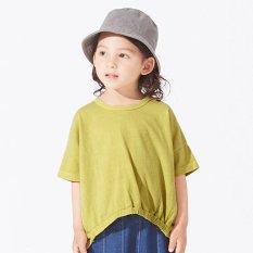 WEB限定 製品染め裾絞りTシャツ