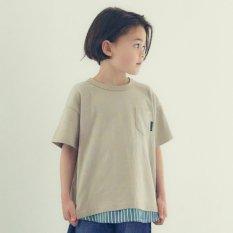 WEB限定 布帛切替Tシャツ