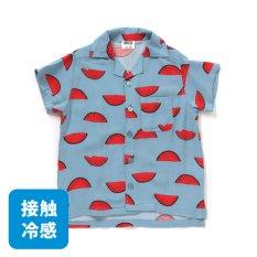 接触冷感オープンカラーシャツ