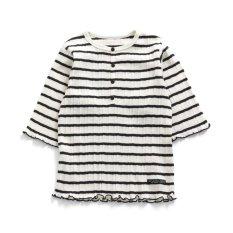 テレコ7分袖Tシャツ