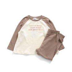 女児ロゴパジャマ 9分丈