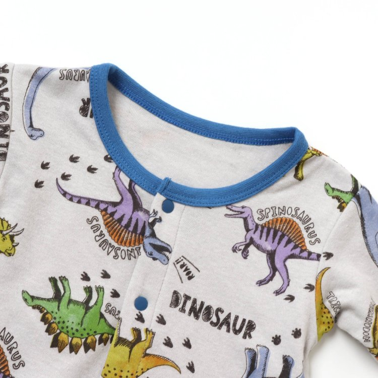 カバーオール 恐竜柄