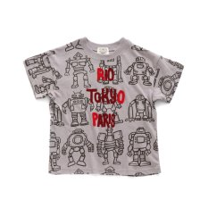 ロボット総柄BIG Tシャツ