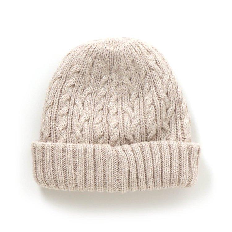 ケーブル編み 帽子