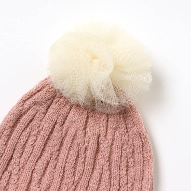 ポンポン付き 帽子
