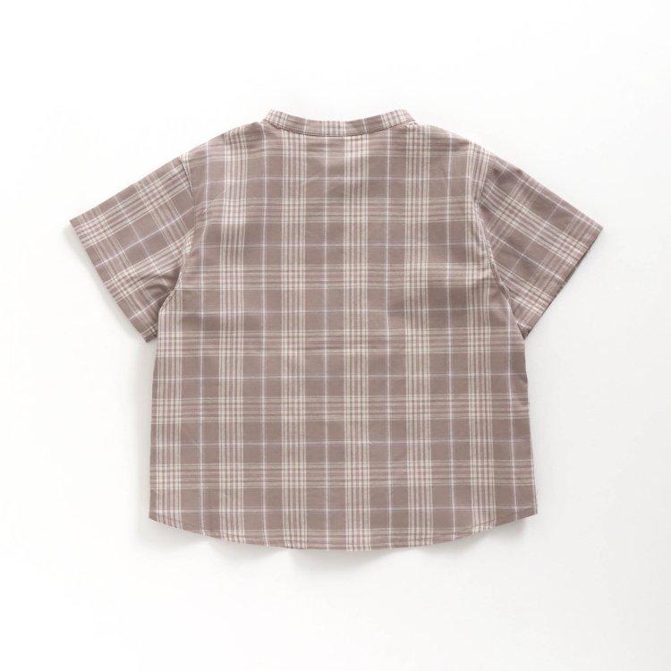 ノーカラー シャツ