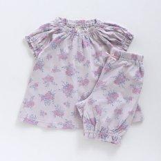 花柄パジャマ 5分丈