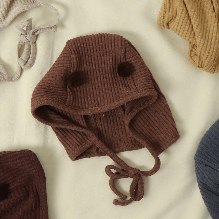 リブボンネット 帽子