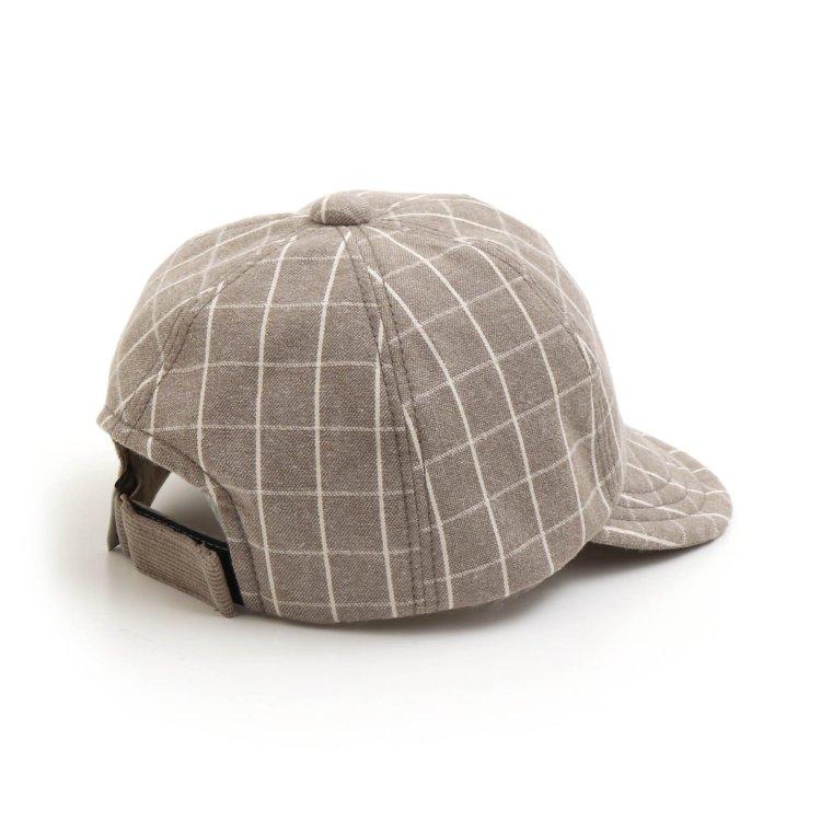 チェック 帽子